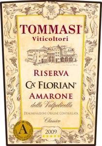 Tommasi Ca' Florian Amarone Florian FR RISERVA 2003